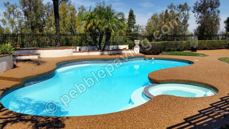 ... Concrete And Pouring New. Resurfacing Your Pool Deck With Our Pebble  Paving Can Help You Add Color Using Natural Stone, The Possibilities Are  Endless.